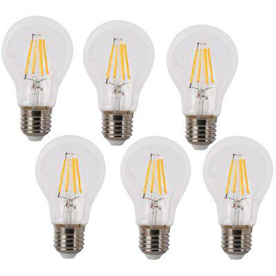 SUPli 6W E27 LED Filament Bulbs AC 220 - 240V 6PCS