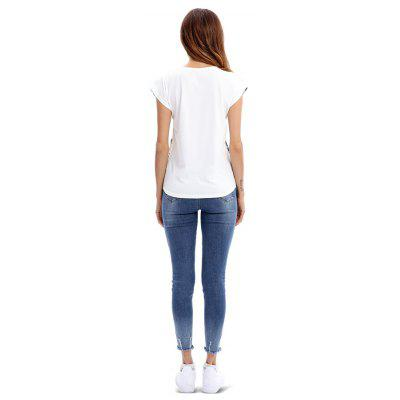 Women Cap Sleeves Face Print Fitted T-ShirtTees<br>Women Cap Sleeves Face Print Fitted T-Shirt<br><br>Collar: Round Neck<br>Material: Polyester<br>Package Contents: 1 x T-Shirt<br>Package size: 35.00 x 30.00 x 2.00 cm / 13.78 x 11.81 x 0.79 inches<br>Package weight: 0.4200 kg<br>Pattern Type: Print<br>Product weight: 0.4000 kg<br>Season: Fall, Summer, Spring<br>Sleeve Length: Short Sleeves<br>Sleeve Type: Cap Sleeve<br>Style: Fashion, Casual