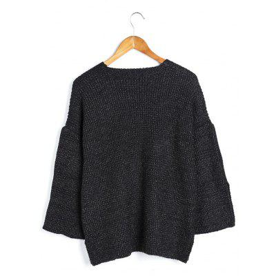 Women Loose V-neck Split Cuff SweaterSweaters &amp; Cardigans<br>Women Loose V-neck Split Cuff Sweater<br><br>Materials: Acrylic, Spandex<br>Package Content: 1 x Sweater<br>Package Dimension: 35.00 x 30.00 x 2.00 cm / 13.78 x 11.81 x 0.79 inches<br>Package weight: 0.5200 kg<br>Product Dimension: 35.00 x 30.00 x 2.00 cm / 13.78 x 11.81 x 0.79 inches<br>Product weight: 0.5000 kg<br>Type: Cardigans