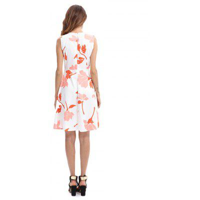 Sleeveless Tight Waist Printed Mini DressMini Dresses<br>Sleeveless Tight Waist Printed Mini Dress<br><br>Dresses Length: Mini<br>Material: Polyester, Spandex<br>Package Contents: 1 x Dress<br>Package size: 35.00 x 30.00 x 2.00 cm / 13.78 x 11.81 x 0.79 inches<br>Package weight: 0.4200 kg<br>Pattern Type: Floral<br>Product weight: 0.4000 kg<br>Season: Fall, Spring, Summer<br>Silhouette: A-Line<br>Sleeve Length: Sleeveless<br>Style: Fashion<br>With Belt: No