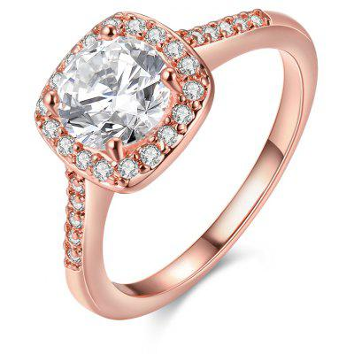 Buy ROSE GOLD 6 Fashionable Zircon Ring for $4.09 in GearBest store