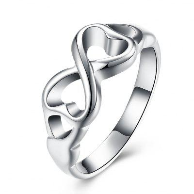 Infinity Symbol Copper with Silver Plated Ring