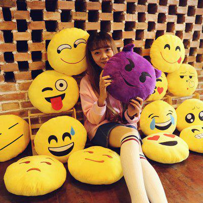 Cartoon QQ Emoji Style Throw Pillow 1PC