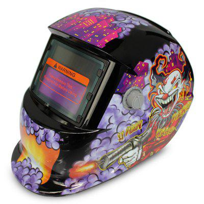 Clown Pattern Automatic Darkening Electrical Welding Helmet