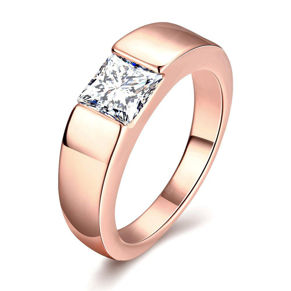 ROSE GOLD 9 Individuality Male Zircon Ring