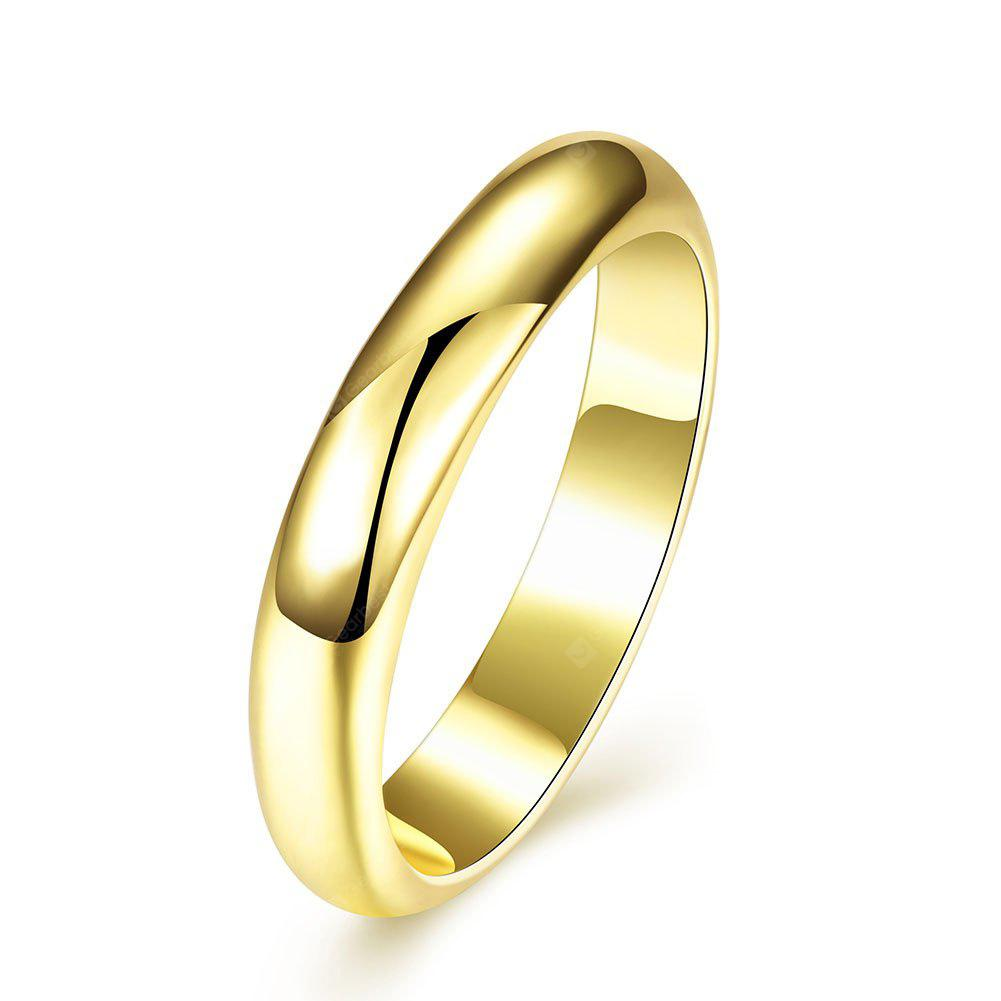 Unisex Contracted Copper with 18K Gold Plated Ring