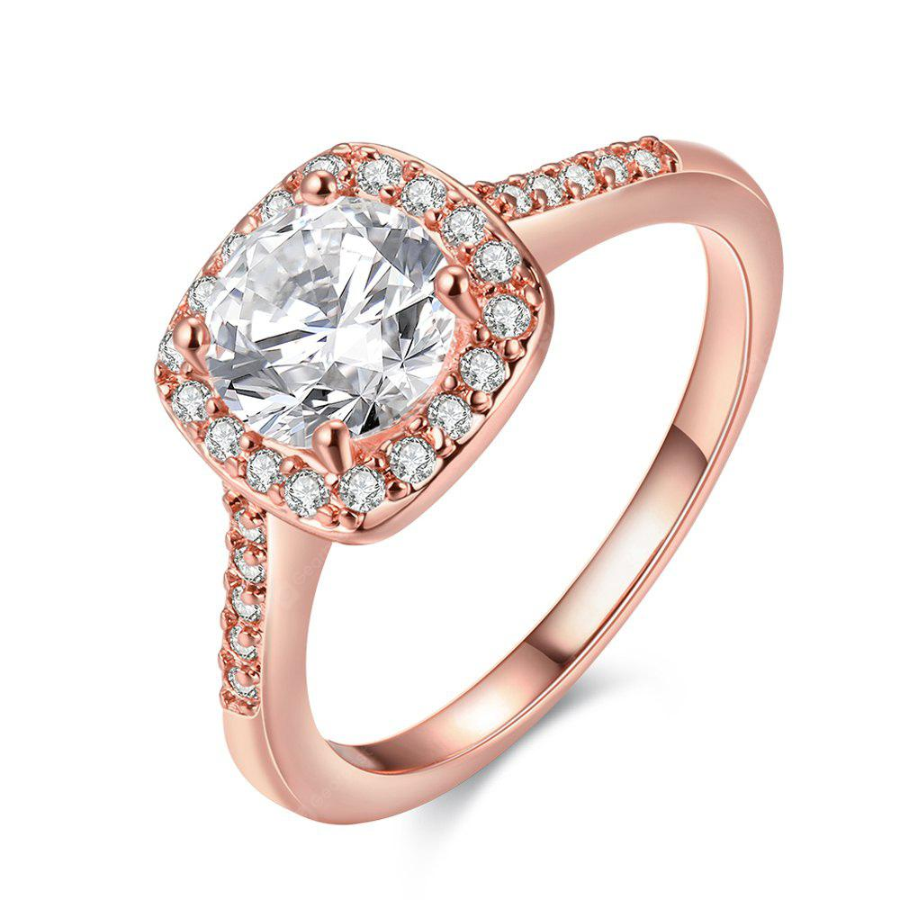ROSE GOLD 9 Fashionable Zircon Ring