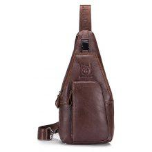 BULLCAPTAIN Men Anti-theft Genuine Leather Shoulder Bag