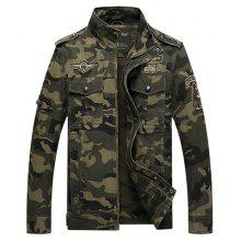 Jeep Rich Male Casual Camouflage Pattern Jacket