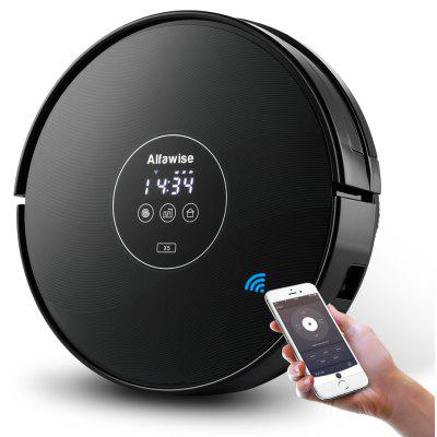 Alfawise X5 Robotic Vacuum Cleaner Strong Suction Work with Alexa - EU PLUG BLACK