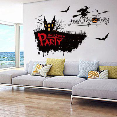 Halloween Castle Witch Pattern Wall StickerWall Stickers<br>Halloween Castle Witch Pattern Wall Sticker<br><br>Function: Decorative Wall Sticker<br>Material: Self-adhesive Plastic, Vinyl(PVC)<br>Package Contents: 1 x Sticker<br>Package size (L x W x H): 52.00 x 7.00 x 7.00 cm / 20.47 x 2.76 x 2.76 inches<br>Package weight: 0.1500 kg<br>Product weight: 0.1200 kg<br>Quantity: 1<br>Subjects: Holiday<br>Suitable Space: Bedroom,Game Room,Pathway<br>Type: Plane Wall Sticker