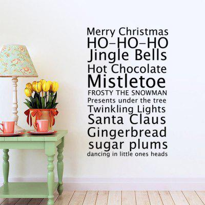 Christmas Greetings Design Wall StickerWall Stickers<br>Christmas Greetings Design Wall Sticker<br><br>Function: Decorative Wall Sticker<br>Material: Self-adhesive Plastic, Vinyl(PVC)<br>Package Contents: 1 x Sticker<br>Package size (L x W x H): 60.00 x 7.00 x 7.00 cm / 23.62 x 2.76 x 2.76 inches<br>Package weight: 0.1500 kg<br>Product weight: 0.1200 kg<br>Quantity: 1<br>Subjects: Holiday<br>Suitable Space: Bedroom,Game Room,Living Room,Pathway<br>Type: Plane Wall Sticker
