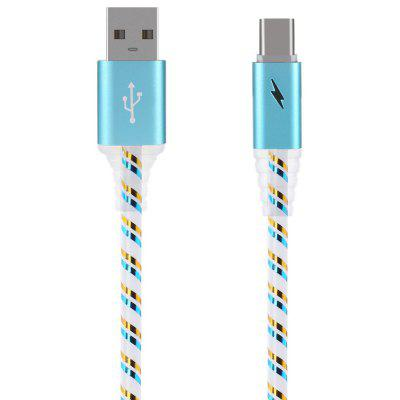 1m LED Sparkle Type-C USB 2.0 Data Sync Charging Cable