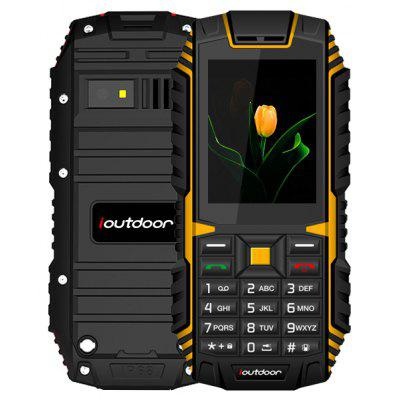 Buy YELLOW AND BLACK Ioutdoor T1 Quad Band Unlocked Phone for $29.99 in GearBest store