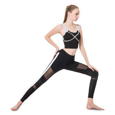 Breathable Sports Running Yoga Set for WomenYoga<br>Breathable Sports Running Yoga Set for Women<br><br>Features: Anti Sweat, Breathable, High elasticity, Quick Dry<br>Gender: Female<br>Material: Spandex, Polyamide<br>Package Content: 1 x Set<br>Package size: 30.00 x 25.00 x 2.00 cm / 11.81 x 9.84 x 0.79 inches<br>Package weight: 0.4800 kg<br>Product weight: 0.4500 kg