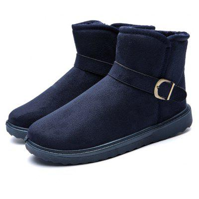Buy DEEP BLUE 42 Male Classic Warmest Ankle Top Snow Buckle Decorative Boots for $23.40 in GearBest store