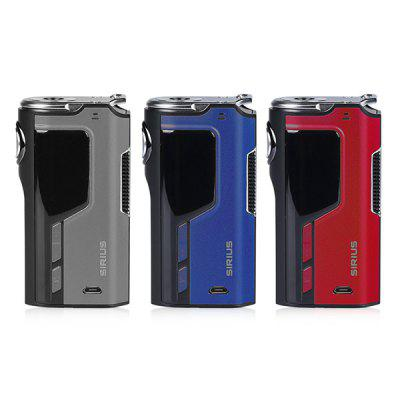 Original Lost Vape Modefined Sirius 200W TC Box ModTemperature Control Mods<br>Original Lost Vape Modefined Sirius 200W TC Box Mod<br><br>Accessories type: MOD<br>APV Mod Wattage: 200w<br>APV Mod Wattage Range: 151-200W<br>Battery Quantity: 2pcs ( not included )<br>Brand: Lost Vape<br>Material: Zinc Alloy<br>Mod: Temperature Control Mod,VW Mod<br>Model: Modefined Sirius 200W<br>Package Contents: 1 x Sirius 200W Mod, 1 x Charging Cable, 1 x English User Manual<br>Package size (L x W x H): 14.00 x 14.00 x 5.00 cm / 5.51 x 5.51 x 1.97 inches<br>Package weight: 0.2500 kg<br>Product size (L x W x H): 8.70 x 4.70 x 3.00 cm / 3.43 x 1.85 x 1.18 inches<br>Product weight: 0.1400 kg<br>Temperature Control Range: 200 - 600 Deg.F<br>Type: Electronic Cigarettes Accessories