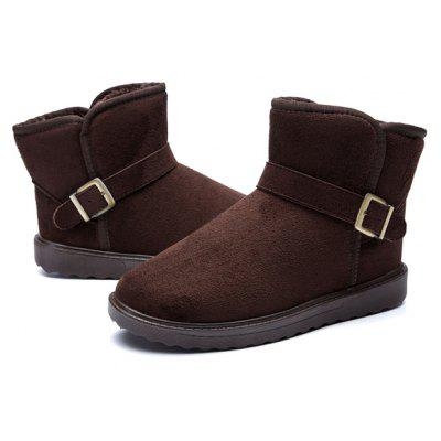 Buy DEEP BROWN 42 Male Classic Warmest Ankle Top Snow Buckle Decorative Boots for $23.40 in GearBest store