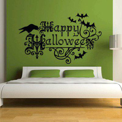 Halloween Crow Pattern Design Wall Decor StickerWall Stickers<br>Halloween Crow Pattern Design Wall Decor Sticker<br><br>Function: Decorative Wall Sticker<br>Material: Self-adhesive Plastic, Vinyl(PVC)<br>Package Contents: 1 x Sticker<br>Package size (L x W x H): 60.00 x 40.00 x 10.00 cm / 23.62 x 15.75 x 3.94 inches<br>Package weight: 0.1500 kg<br>Product weight: 0.1200 kg<br>Quantity: 1<br>Subjects: Cartoon,Holiday<br>Suitable Space: Bedroom,Dining Room,Pathway<br>Type: Plane Wall Sticker