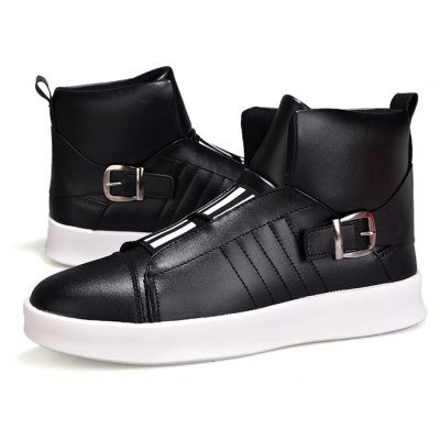 Buy BLACK 39 Male Street Trendy High Top Casual Skateboarding Shoes for $38.98 in GearBest store