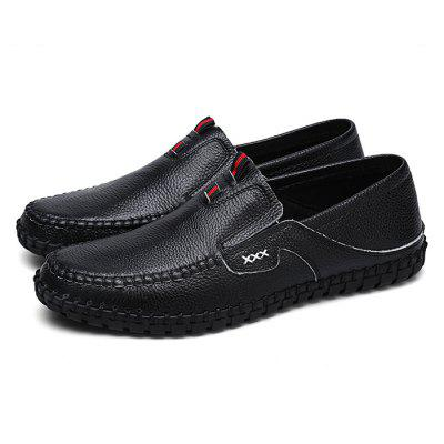Buy BLACK 38 Male British Stitching Soft Casual Loafer Oxford Shoes for $48.00 in GearBest store