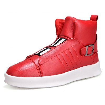 Buy RED 43 Male Street Trendy High Top Casual Skateboarding Shoes for $38.98 in GearBest store
