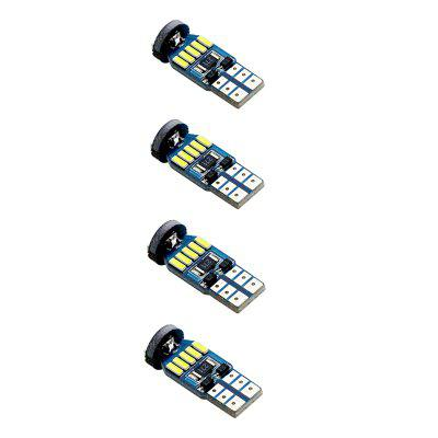 T10 15 LEDs SMD4014 Car Clearance / License Plate Light 4pcsCar Lights<br>T10 15 LEDs SMD4014 Car Clearance / License Plate Light 4pcs<br><br>Adaptable automobile mode: Universal<br>Apply lamp position: External Lights<br>Chip type: SMD 4014<br>Color temperatures: 6500K<br>Connector: T10<br>Emitting color: White<br>LED Quantity: 15<br>Lumens: 400LM<br>Package Contents: 4 x SMD4014 LED Light<br>Package size (L x W x H): 10.00 x 5.00 x 3.50 cm / 3.94 x 1.97 x 1.38 inches<br>Package weight: 0.0350 kg<br>Power: 4W<br>Product size (L x W x H): 3.00 x 1.00 x 1.00 cm / 1.18 x 0.39 x 0.39 inches<br>Product weight: 0.0280 kg<br>Type: Clearance Lamp<br>Type of lamp-house: LED<br>Voltage: 12V/DC