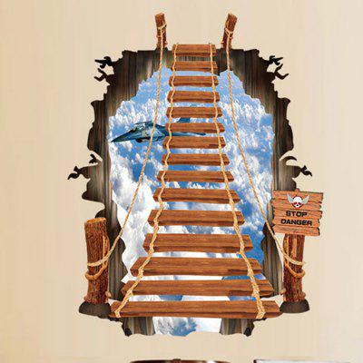 3D Ladder Sky Design Wall StickerWall Stickers<br>3D Ladder Sky Design Wall Sticker<br><br>Function: Decorative Wall Sticker<br>Material: Self-adhesive Plastic, Vinyl(PVC)<br>Package Contents: 1 x Sticker<br>Package size (L x W x H): 62.00 x 7.00 x 7.00 cm / 24.41 x 2.76 x 2.76 inches<br>Package weight: 0.1500 kg<br>Product weight: 0.1200 kg<br>Quantity: 1<br>Subjects: 3D<br>Suitable Space: Bedroom,Boys Room,Game Room,Kids Room<br>Type: Plane Wall Sticker