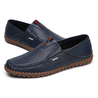 Buy BLUE 45 Male British Stitching Soft Casual Loafer Oxford Shoes for $48.00 in GearBest store