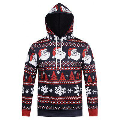 Creative Christmas Elements Printing Hoodie Sweatshirt
