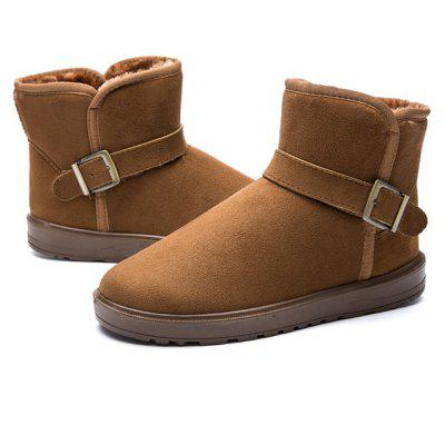 Male Classic Warmest Ankle Top Snow Buckle Decorative Boots