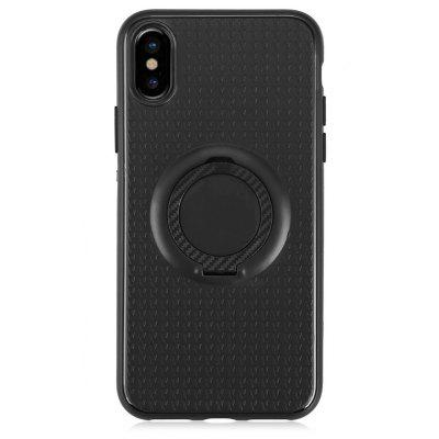 Buy BLACK TPU Soft Matte Phone Case for iPhone X Ring Holder Cover for $3.41 in GearBest store