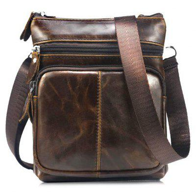 BULLCAPTAIN Genuine Leather Shoulder Bag