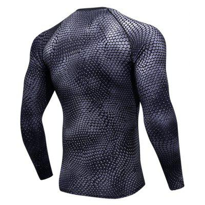 3D Printed Sports Tight Sweat Absorption T-shirt for MenWeight Lifting Clothes<br>3D Printed Sports Tight Sweat Absorption T-shirt for Men<br><br>Features: Breathable, High elasticity, Quick Dry<br>Gender: Men<br>Material: Polyester, Spandex<br>Package Content: 1 x T-shirt<br>Package size: 32.00 x 23.00 x 2.00 cm / 12.6 x 9.06 x 0.79 inches<br>Package weight: 0.1900 kg<br>Product weight: 0.1800 kg<br>Types: Long Sleeves
