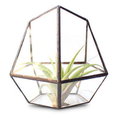 Diamond Shape Desk Decoration Glass Greenhouse