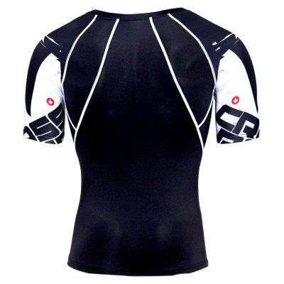 Elastic Short Sleeves Tight Running Male T-shirtWeight Lifting Clothes<br>Elastic Short Sleeves Tight Running Male T-shirt<br><br>Features: Breathable, High elasticity, Quick Dry<br>Material: Spandex, Polyester<br>Package Content: 1 x T-shirt<br>Package size: 35.00 x 30.00 x 2.00 cm / 13.78 x 11.81 x 0.79 inches<br>Package weight: 0.1800 kg<br>Product weight: 0.1600 kg<br>Types: Short Sleeves
