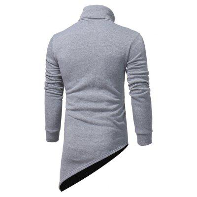 Male Unique Irregular Hem SweatshirtsMens Hoodies &amp; Sweatshirts<br>Male Unique Irregular Hem Sweatshirts<br><br>Package Contents: 1 x Coat<br>Package size: 40.00 x 30.00 x 4.00 cm / 15.75 x 11.81 x 1.57 inches<br>Package weight: 0.5000 kg<br>Product weight: 0.4800 kg