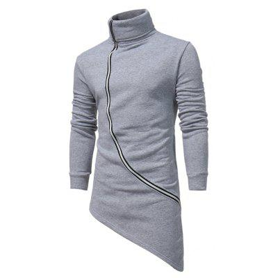 Male Unique Irregular Hem Sweatshirts