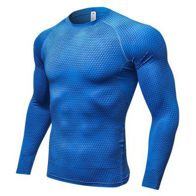 3D Printed Sports Tight Sweat Absorption T-shirt for Men