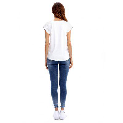 Slim Elephant Round Neck Polyester Female T-shirtTees<br>Slim Elephant Round Neck Polyester Female T-shirt<br><br>Clothing Length: Regular<br>Package Contents: 1 x T-shirt<br>Package size: 35.00 x 30.00 x 2.00 cm / 13.78 x 11.81 x 0.79 inches<br>Package weight: 0.4000 kg<br>Pattern Type: Animal<br>Product weight: 0.3500 kg<br>Season: Summer<br>Style: Casual, Fashion