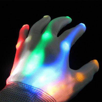 Colorful LED Light up Halloween Gloves