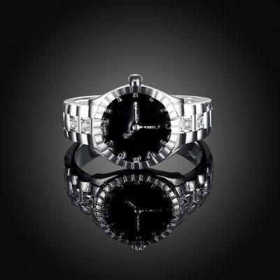 Female Watch Type Ring with ZirconRings<br>Female Watch Type Ring with Zircon<br><br>Occasions: Casual, Party<br>Package Contents: 1 x Ring<br>Package size (L x W x H): 6.00 x 6.00 x 4.00 cm / 2.36 x 2.36 x 1.57 inches<br>Package weight: 0.0058 kg<br>Product weight: 0.0056 kg<br>Style: Casual, Modern<br>Type: Rings