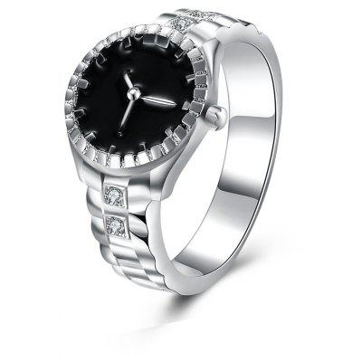 Female Watch Type Ring with Zircon