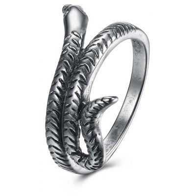 Buy SILVER GRAY 7 Women Unique Snake Pattern Copper Ring for $3.49 in GearBest store