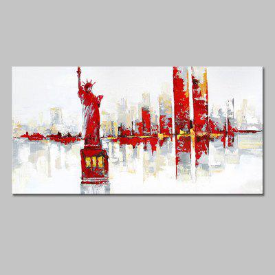 Buy COLORMIX Mintura MT160772 Abstract City View Canvas Oil Painting for $65.83 in GearBest store