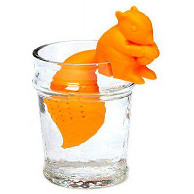 Cute Squirrel Shape Silicone Tea Infuser Tea-leaf Strainer