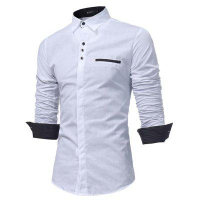 WSGYJ Male Trendy Simple Shirt