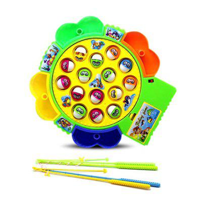 Creative Battery-operated Magnetic Fishing Toy SetOther Educational Toys<br>Creative Battery-operated Magnetic Fishing Toy Set<br><br>Age: 2 Years+<br>Applicable gender: Unisex<br>Battery Type: 3 x 1.5V AA battery(not included)<br>Design Style: Animal, Cartoon<br>Features: Educational, DIY<br>Gender: Unisex<br>Material: Plastic<br>Package Contents: 1 x Set of Fishing Toys<br>Package size (L x W x H): 30.00 x 30.00 x 10.00 cm / 11.81 x 11.81 x 3.94 inches<br>Package weight: 0.4200 kg<br>Product size (L x W x H): 21.00 x 20.00 x 5.00 cm / 8.27 x 7.87 x 1.97 inches<br>Product weight: 0.3500 kg<br>Small Parts: Yes<br>Type: Intelligence toys<br>Washing: No