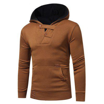 Male Casual Fashion Stitching Color Hoodie