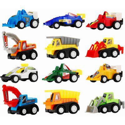 Gearbest Mini Construction Vehicle and Racing Car 12pcs for Children